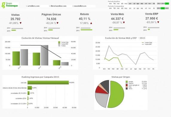 Ejemplo de cuadro de mandos para la visualización y análisis de los datos / G. T.